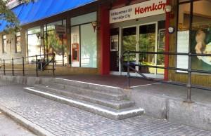 AVSLUTAD, Tillverkning av litet trappräcke till Hemköp