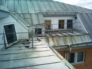 AVSLUTAD, Påbyggnad av räcke på tak