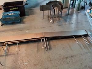 AVSLUTAD, 74meter rabattavgränsare i plåt