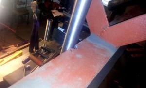 AVSLUTAD, Singel balk trappa, rostfria räcken med glas sektioner, Lev Stockholm