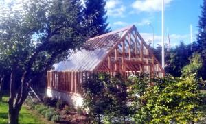 AVSLUTAD, Ventilations fästen, stabilitets ram för att stadga upp lusthus