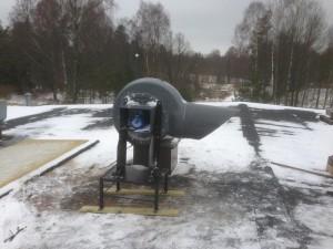 AVSLUTAD, Special ställning för att passa ventilations system på DS Smith.