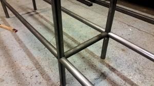 Snyggt laser skurna rör för att det ska passa snyggt, rören är skurna av Anderssons Mekaniska.