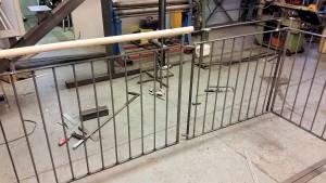 Grind med trapp sektioner provas och 20 mm felar,, inte bra