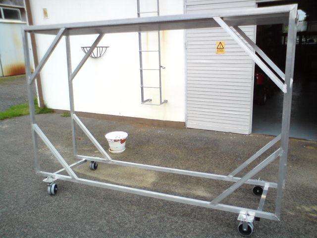 Aluminium vagn till Klichemontage.