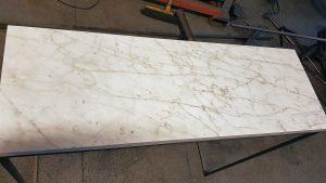 Trendig bordsbenställning för marmor skiva