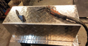 Aluminium balja till A-traktor