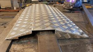 Aluminium ramp till altan